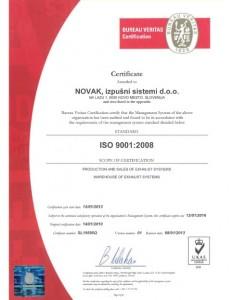 ISO Certifikat  1