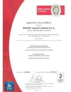 ISO Certifikat  2